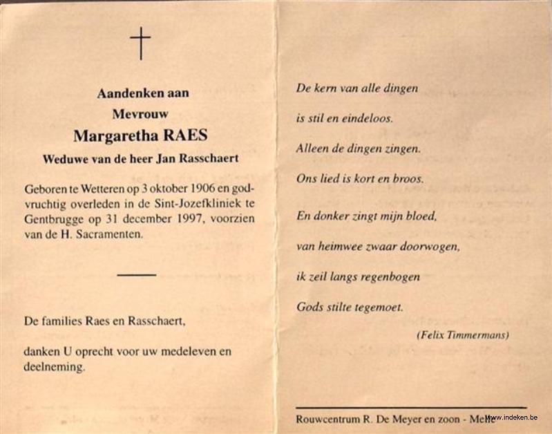 Margaretha Maria Theresia Raes