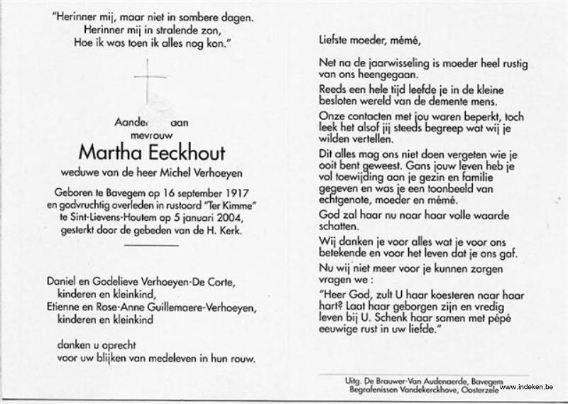 Martha eckhout