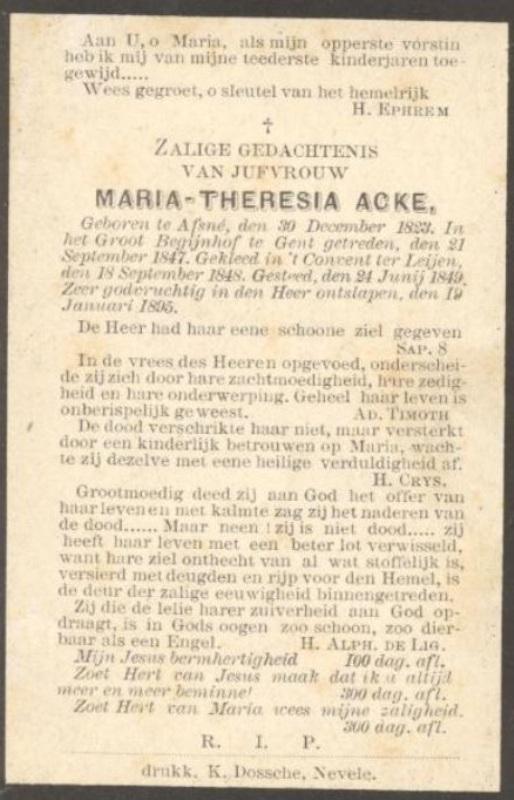 Maria Theresia Acke