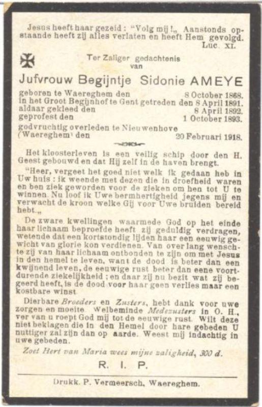 Maria Theresia Sidonie Ameye