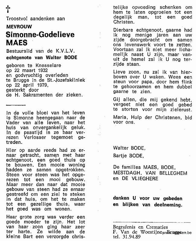 Simonne Godelieve Maes