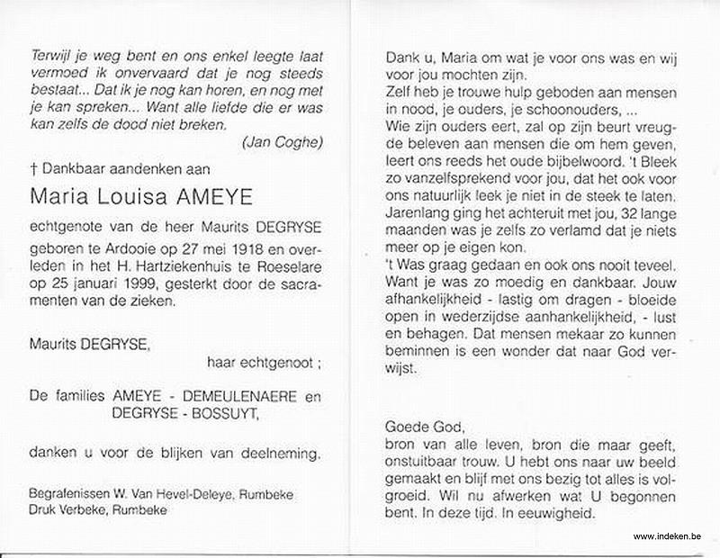 Maria Louisa Ameye