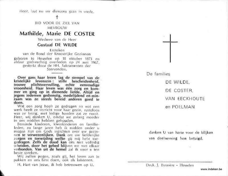 Mathilde Marie De Coster