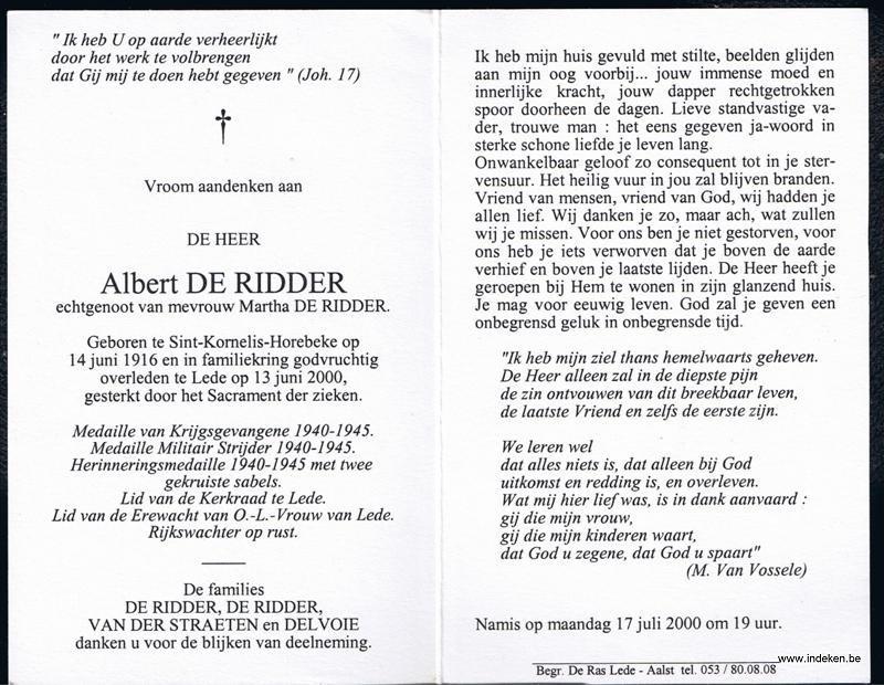 Albert De Ridder