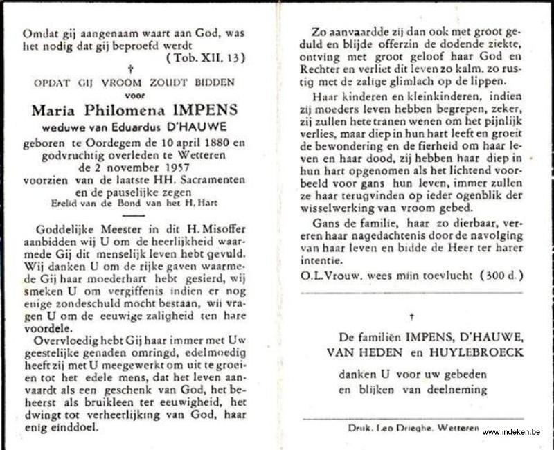 Maria Philomena Impens