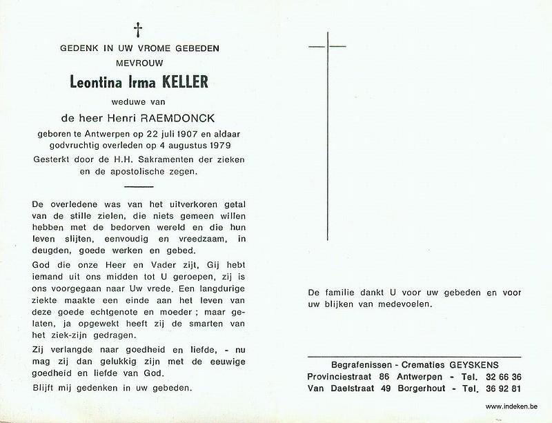 Leontina Irma Keller