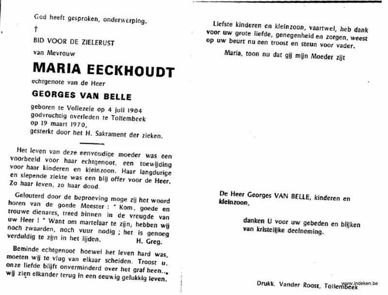 Maria Eeckhoudt