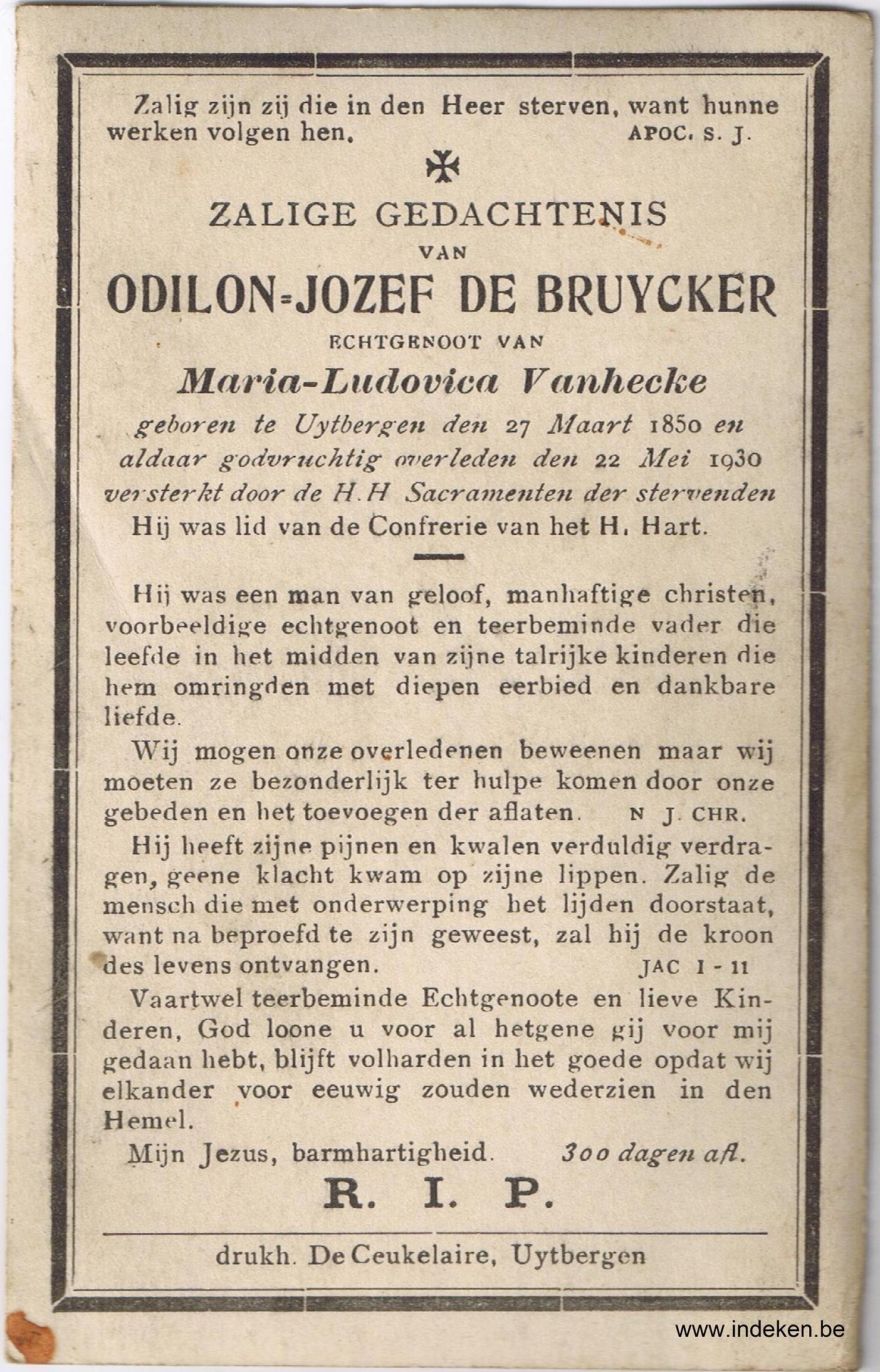 Odilon Jozef De Bruycker
