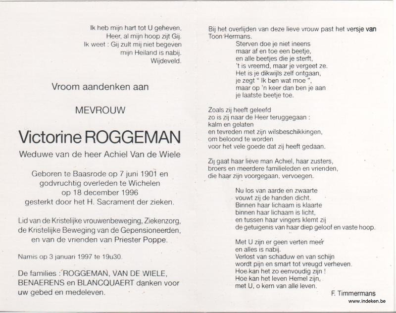 Victorine Roggeman