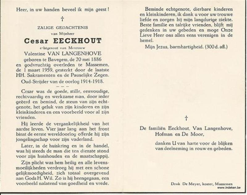 Cesar Joseph eeckhout