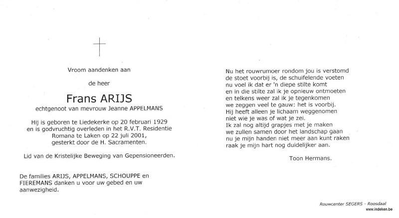 Frans Arijs