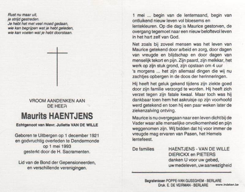 Maurits Haentjens