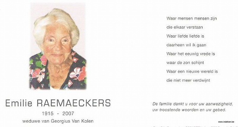 Emilie Raemaeckers