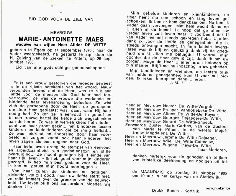 Maria Antonette Maes
