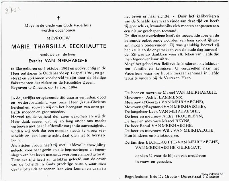 Marie Tharilla Eeckhautte