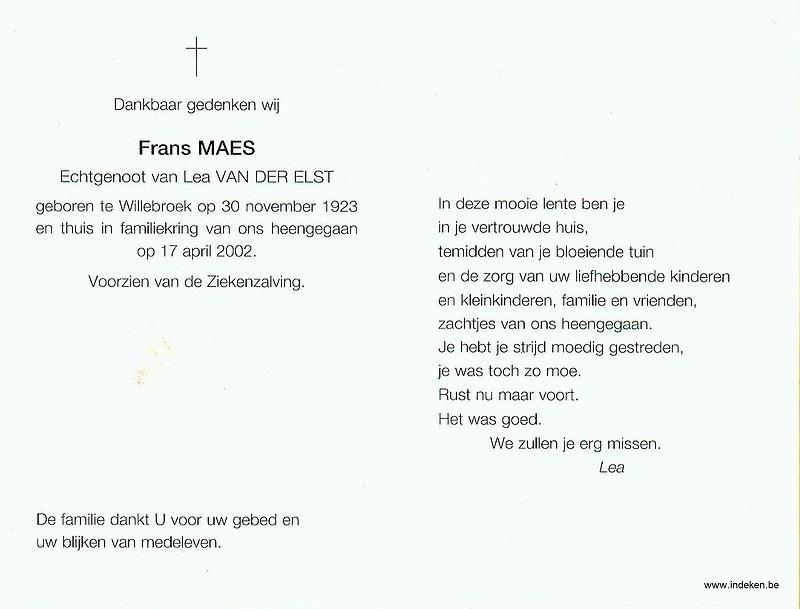 Frans Maes