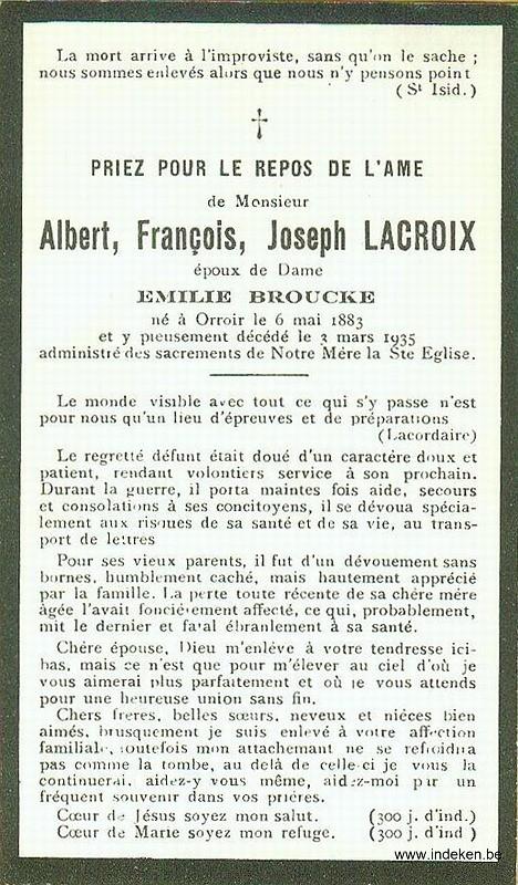 Albert Francois Joseph Lacroix