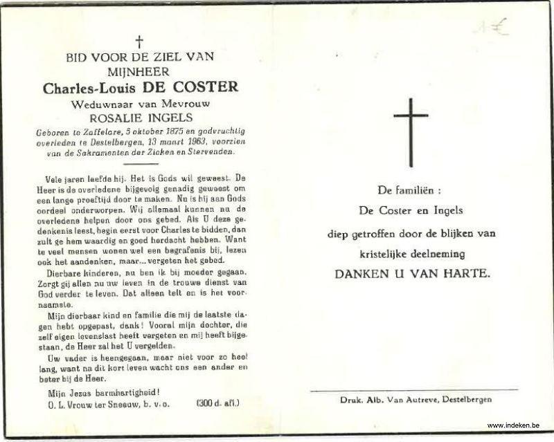 Carolus Ludovicus De Coster