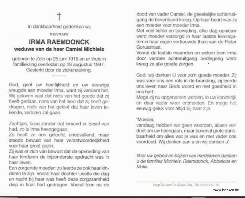 Irma Josepha Raemdonck
