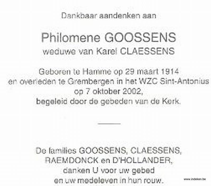 Phiomena Maria Goossens