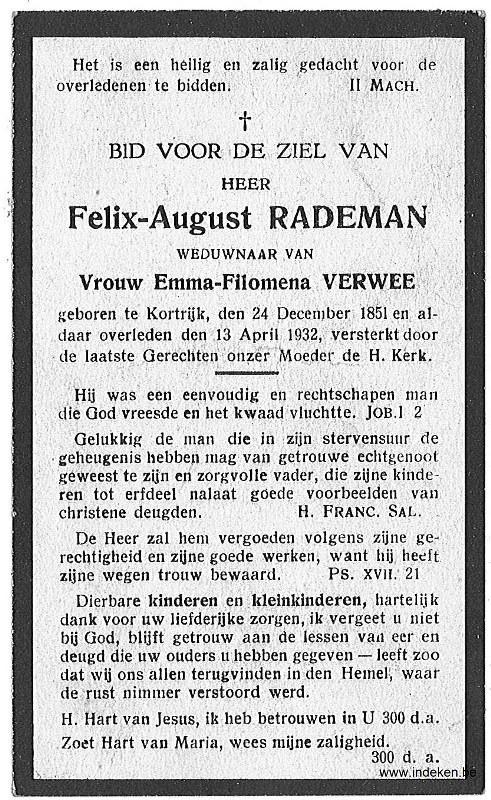 Felix Auguste Rademan