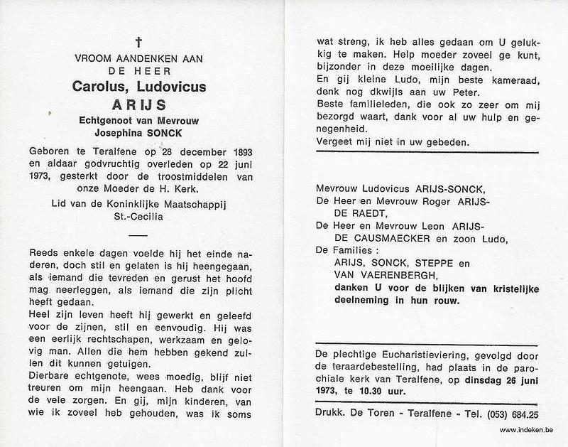 Carolus Ludovicus Arijs