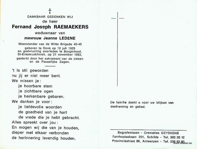 Fernand Joseph Raemaekers