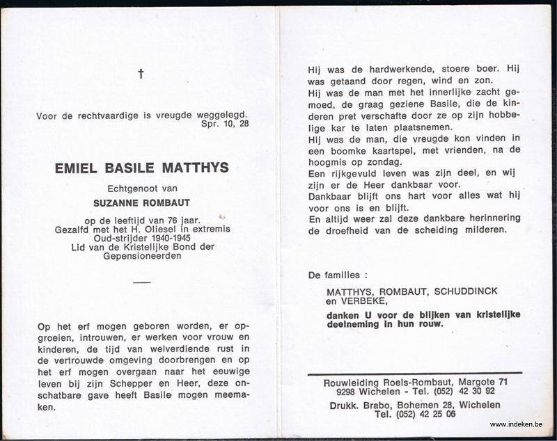 Emiel Basile Aimé Matthys