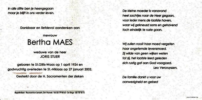 Bertha Maria Elisa Maes