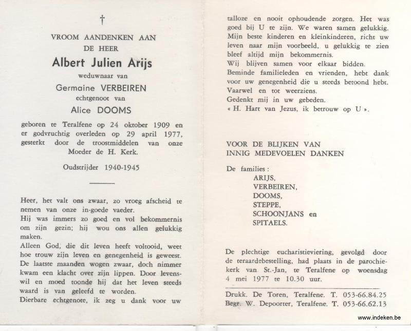 Albert Julien Arijs