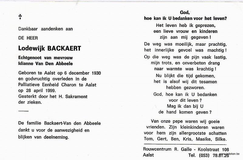 Lodewijk Leontina Frans Backaert