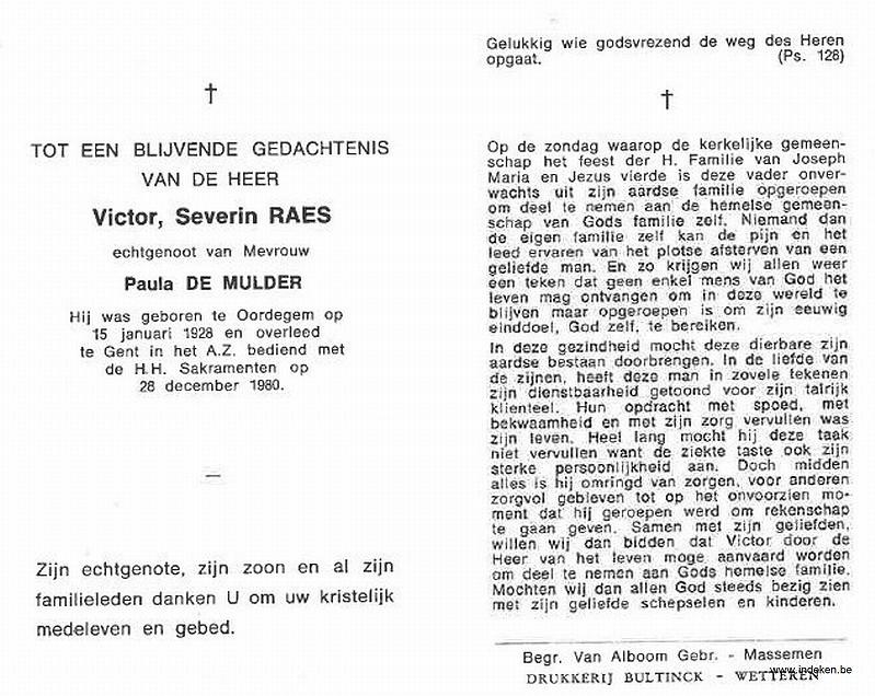 Victor Severin Raes