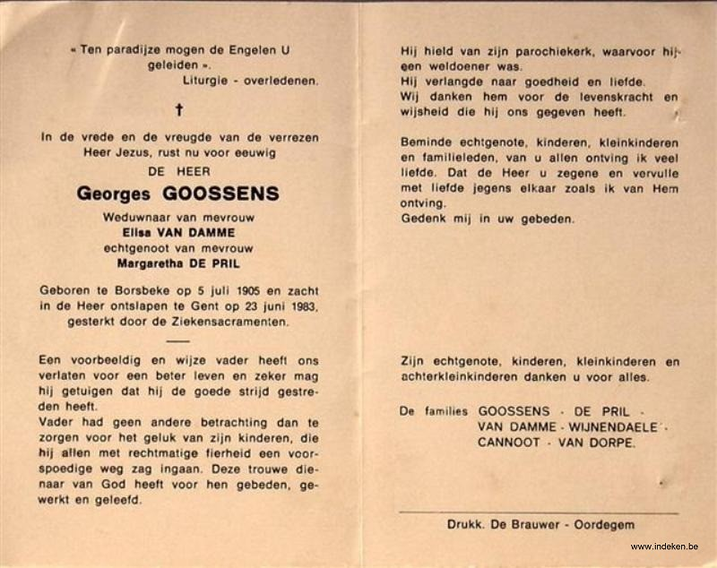 Judocus Leo (Georges) Goossens