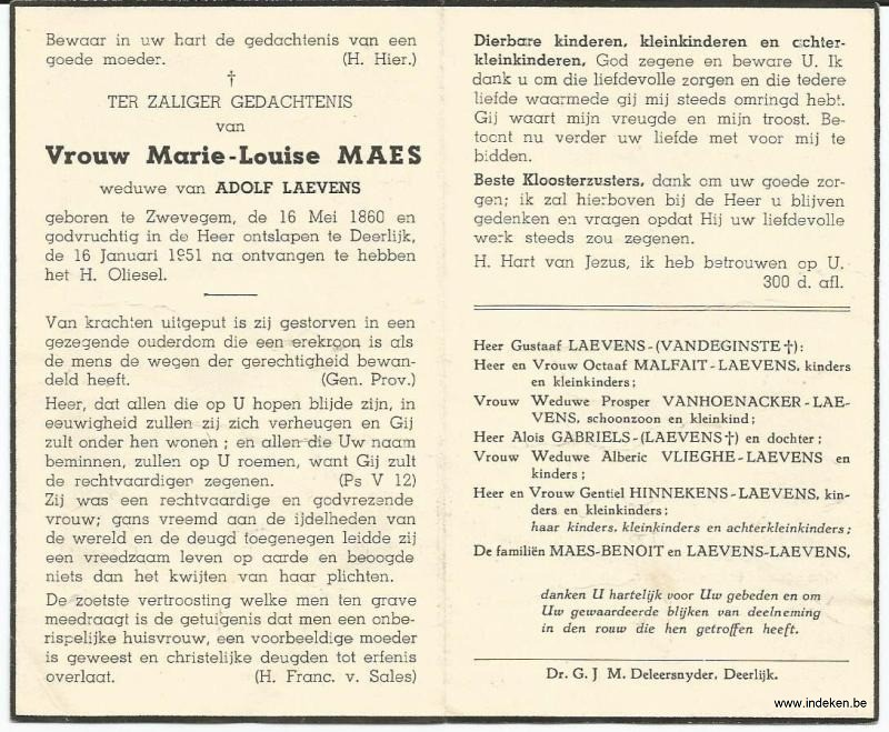 Marie Louise Maes