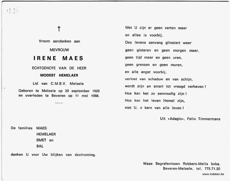 Irene Maes