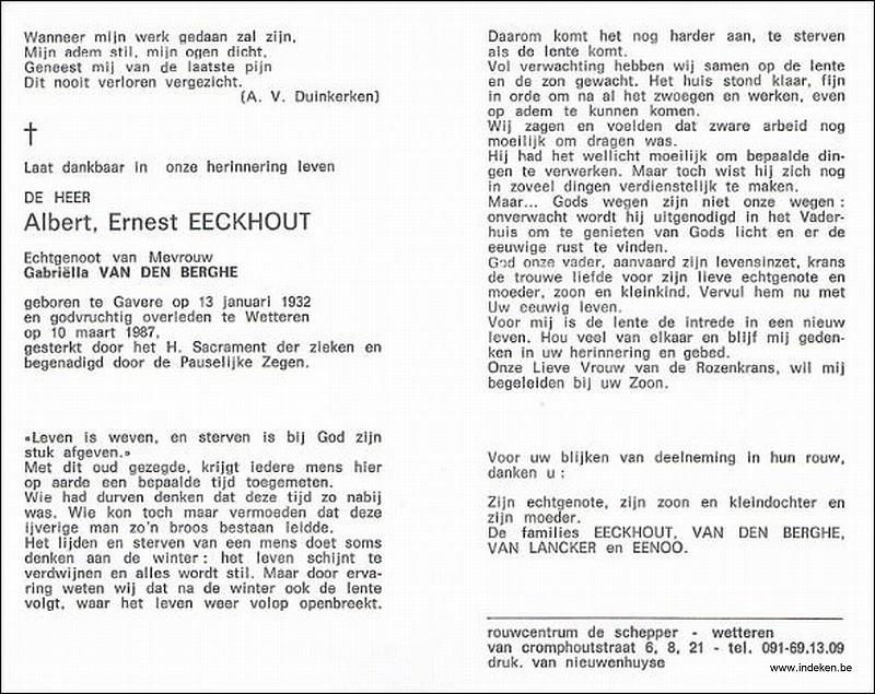Albert Ernest Eeckhout
