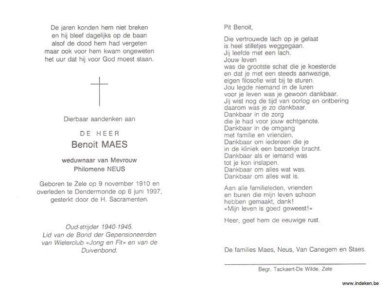 Benedictus Carolus Maes