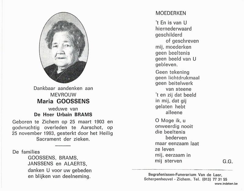 Maria Hermina Goossens