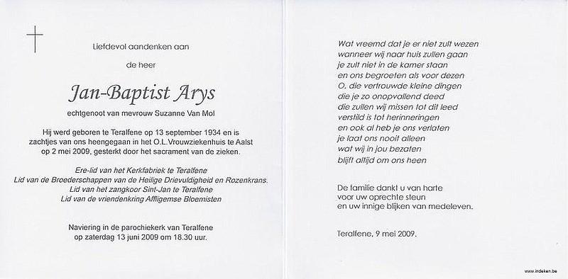 Jan Baptist Arys
