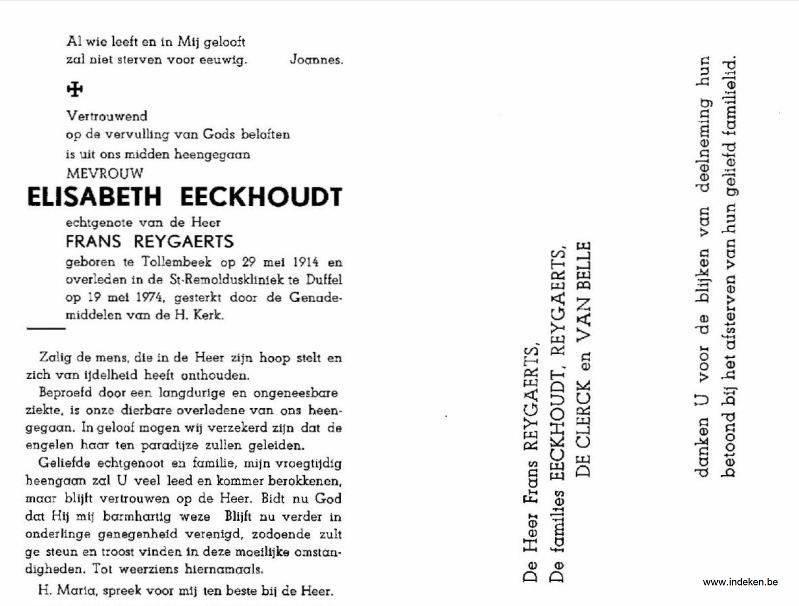 Maria Elisabeth Eeckhoudt
