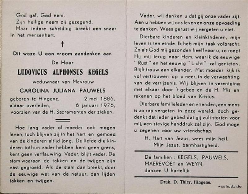 Ludovicus Alphonsus Kegels