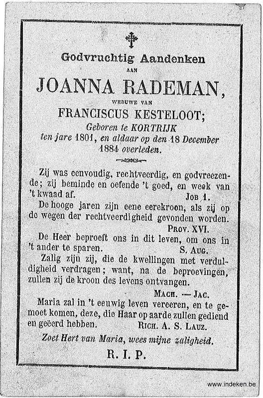 Jeanne Francisca Rademan