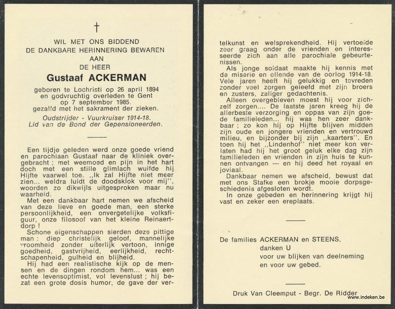 Gustaaf Ackerman