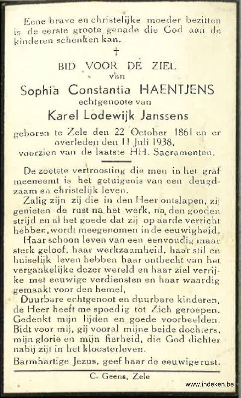 Sophia Constantina Haentjens