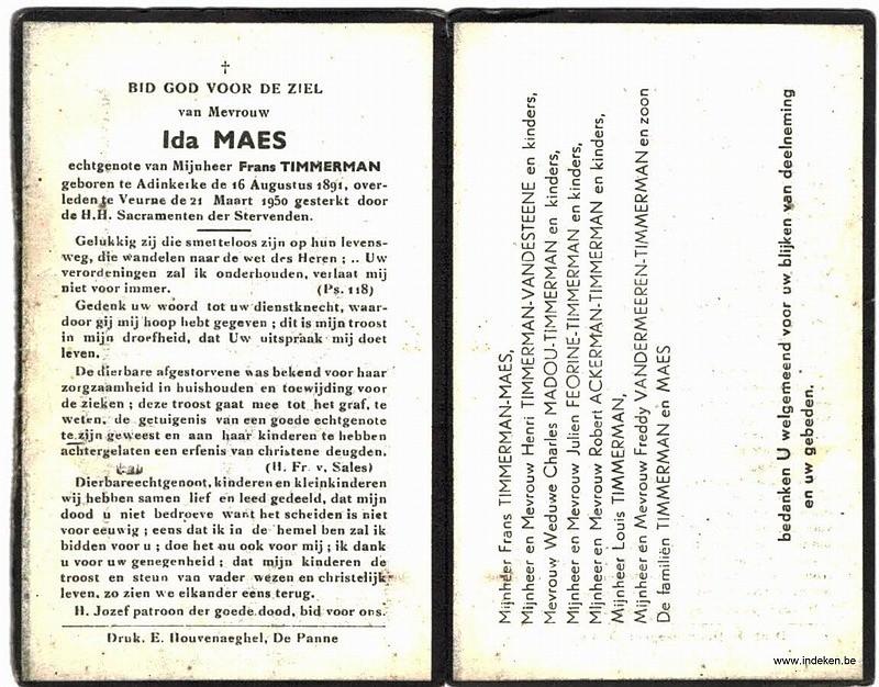 Ida Clementina Justina Maes