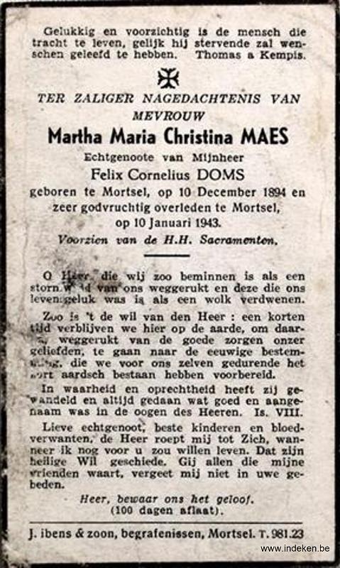 Martha Maria Christina Maes