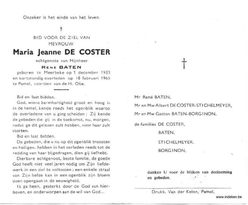 Maria Jeanne De Coster