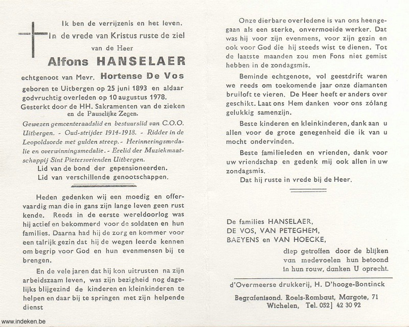 Alfons Hanselaer
