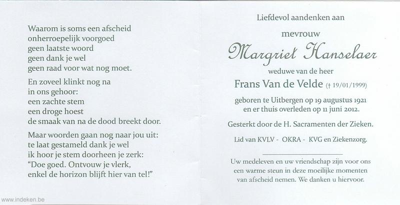 Margriet Hanselaer