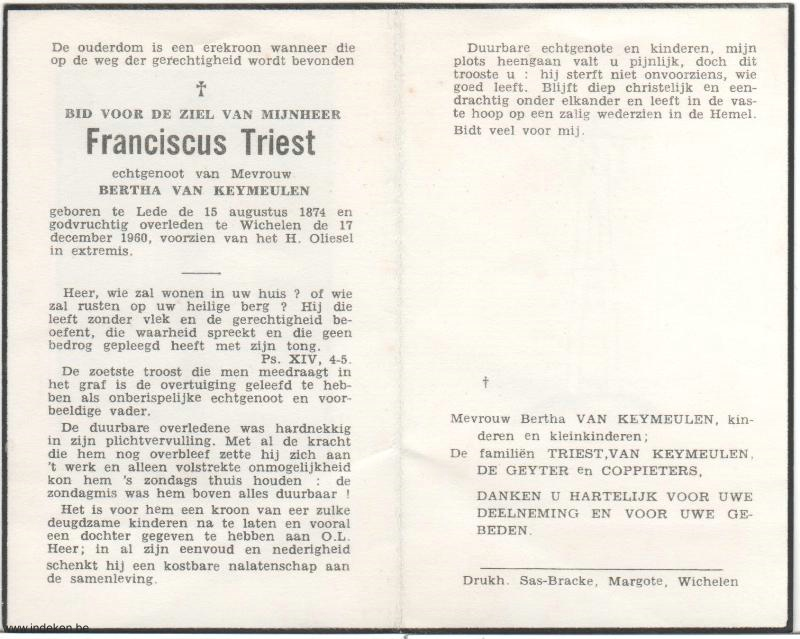 Franciscus Triest